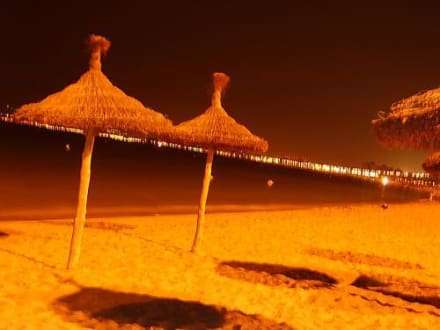 Der Strand bei Nacht - Strand El Arenal/S'Arenal