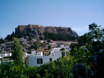 Blick auf die Akropolis von Lindos - Akropolis von Lindos