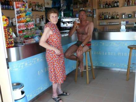"""Bar innen beim Bagno """"Flamingo Beach"""" - Flamingo Beach"""