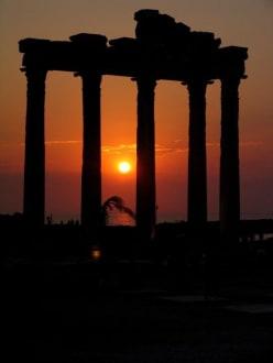 Abendstimmung in Side - Apollon Tempel