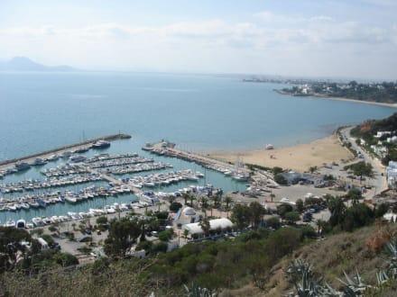 Blick auf den Golf von Tunis - Künstlerdorf Sidi Bou Saïd