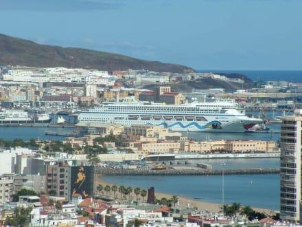 Blick auf den Hafen - Castillo de la Luz