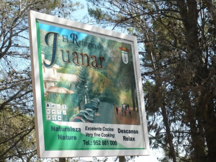 Eingangsschild - Hotel Refugio De Juanar