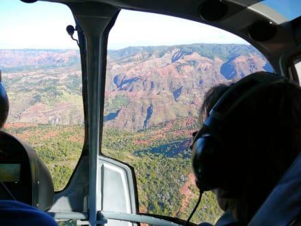 Blick aus dem Heli - Helikopter-Rundflug Lihue