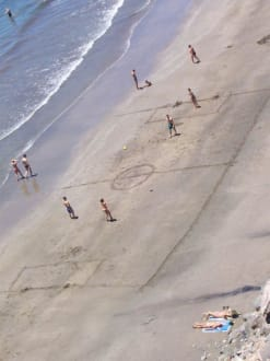 Fußball-EM - Strand Playa del Ingles