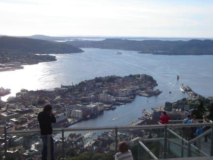 Blick auf Bergen - Floyen