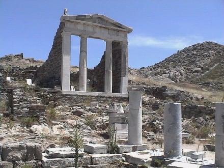 Tempel der Isis auf Mykonos Nachbarinsel Delos - Insel Delos