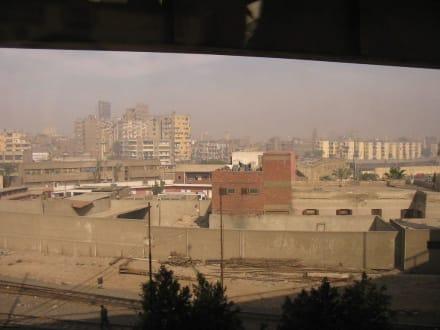 Blick aus dem Bus in Kairo - Zentrum Kairo