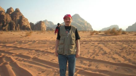Maik im Wadi Rum - Wüstenlandschaft Wadi Rum