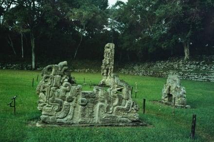 Copan, Altar G - Ruinenstätte Copan