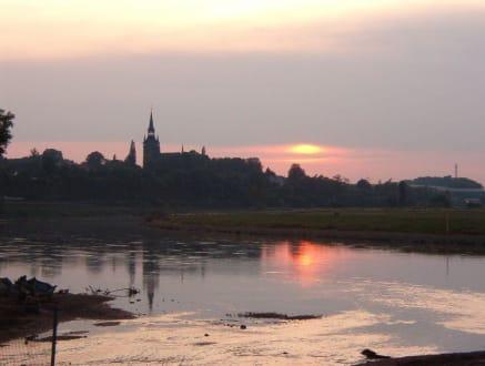 Sonnenuntergang über der Elbe - Elbe