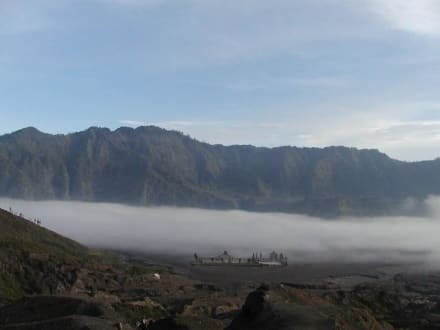 Tempel im Nebel - Bromo Vulkan