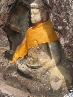 Buddha-Figur - Historischer Park Phu Pra Bat