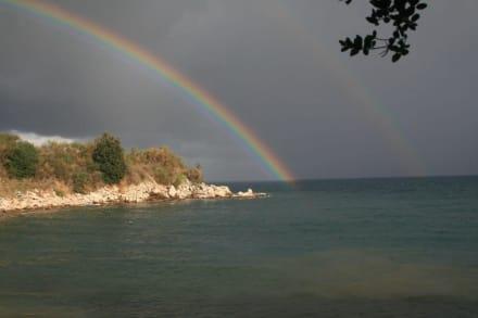 Regenbogen - Strand Kassiopi