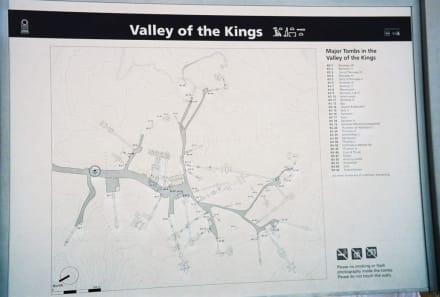 Plan Tal der Könige - Tal der Könige