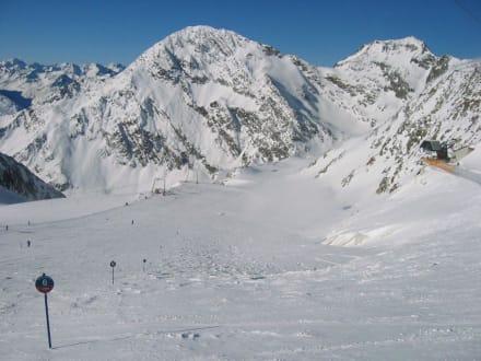 Abfahrt Windachferner am Stubaier Gletscher - Skigebiet Stubaital