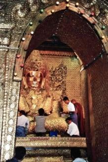 Mahamuni-Buddha - Mahamuni Buddha Tempel / Mahamuni Pagode