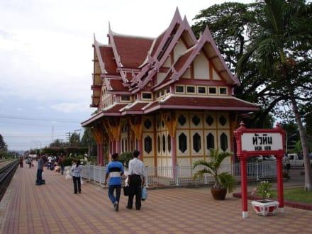 Wartehäusschen - Historischer Bahnhof von Hua Hin