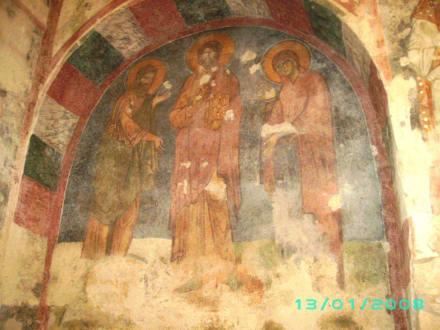 Wandmalerei der Nikolauskirche - Kirche Hl. Nikolaus