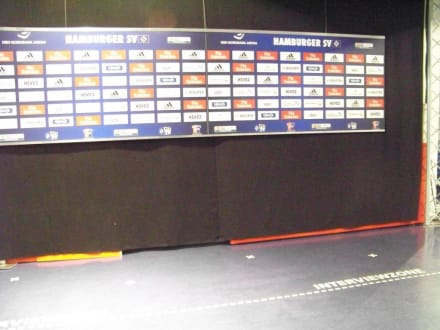 Interview Bereich für nach dem Speil - Volksparkstadion