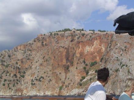 Burg Alanya vom Meer aus - Bootstour Alanya