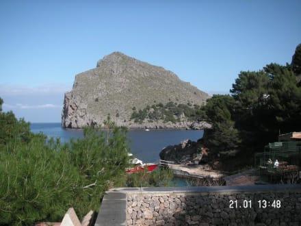 Die bucht, bevor man in den Tummel geht - Bucht Sa Calobra / Torrent de Pareis
