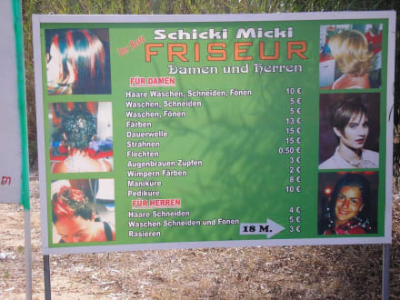 Preitafel - Friseur Schicki Micki