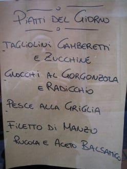 Tageskarte bei Alberto - Osteria Da Alberto