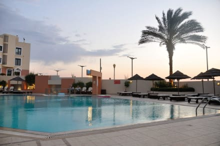 Swimming pool at afternon -