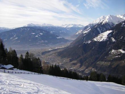 Blick ins Tal bei Videgg im Winter - Hirzergebiet