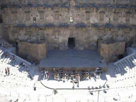Blick auf die Bühne - Theater von Aspendos