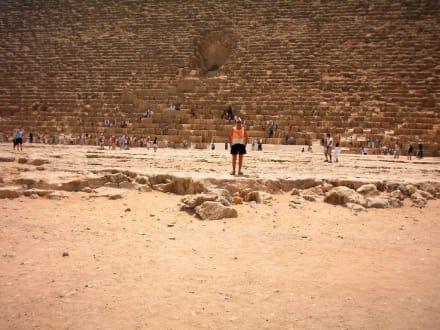 Bei fast 50 Crad C - Pyramiden von Gizeh