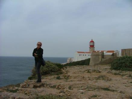 Blick auf den Leuchtturm - Cabo de Sao Vicente