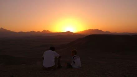 Michel und unser Tour Guide - Wüste