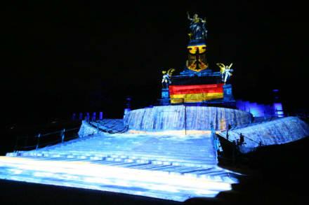 Beleuchtetes Niederwalddenkmal - Niederwalddenkmal