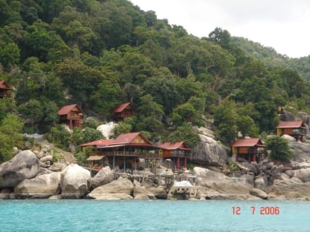 Blick auf Toh Tao vom Tauchboot - Strand Koh Tao