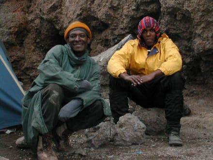 Träger am Kilimanjaro - Kilimanjarobesteigung