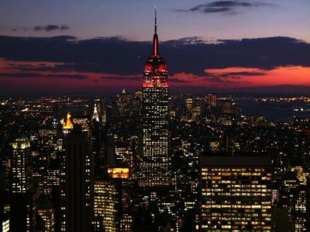 Sonnenuntergang vom Top of the Rock - Rockefeller Center
