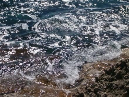 Blick vom kleinen Inselchen am Nissi Beach - Nissi Beach