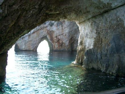 Ausflug in die Grotten von Tsilivi - Blaue Grotten