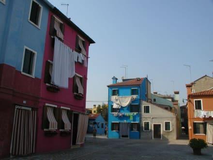Gassen und Plätze von Burano - Insel Burano