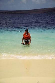 Nach dem 1. Tauchgang (herrlich!) - Insel Klein-Bonaire