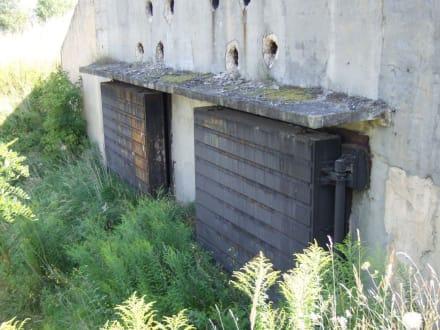 Verschlossener Eingang zum Bunker - Geiseltalsee