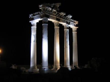 Apollo Tempel - bei Nacht - Apollon Tempel