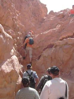 Und raus geht es aus dem Canyon - Coloured Canyon