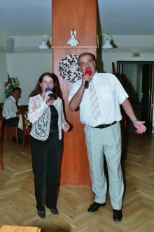 Singender Rennsteigwirt und Sabine Michel - Beim Singenden Rennsteigwirt