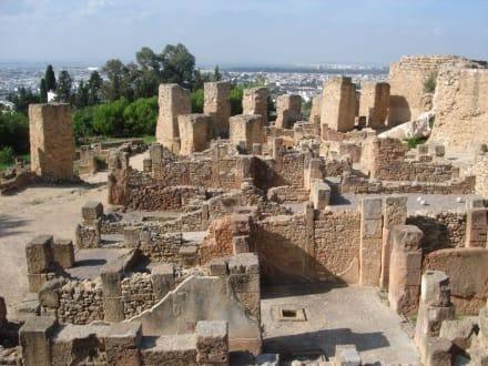 Blick von den Ruinen Karthagos auf Tunis - Ausgrabungen Karthago
