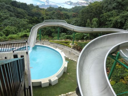 Wasserrutsche in den pool auf dem berg bild mystic mountain sky explorer in ocho rios - Wasserrutsche fur pool ...