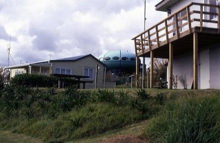 Ferienhäuser an der Whale Bay bei Raglan - Strand Raglan & the Whale Bay