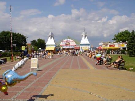 Strandpromenade von Miesdroy - Strand Misdroy/Miedzyzdroje